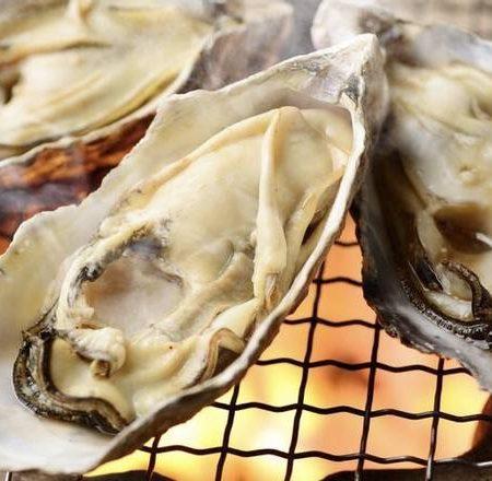 厚岸産焼き牡蠣(3個)