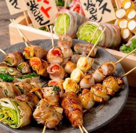 肉巻き野菜串盛り合わせ