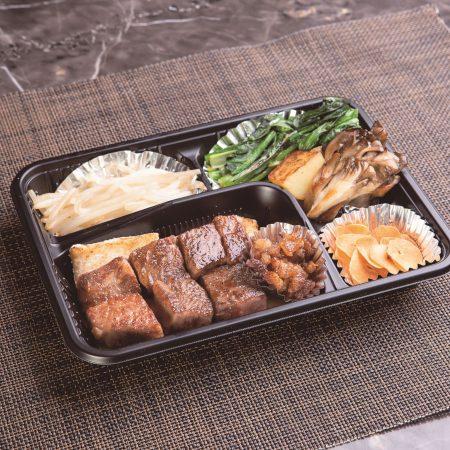 単品 黒毛和牛サーロインステーキ100g 焼き野菜付き